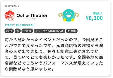 out of theater